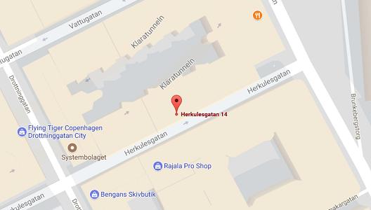 Karta Herkulesgatan