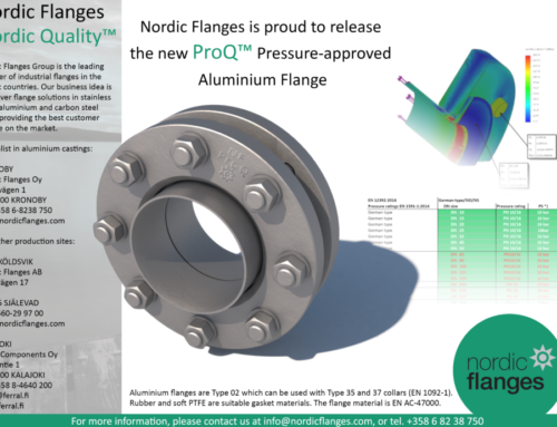 Our New ProQ Pressure Approved Aluminium Flange